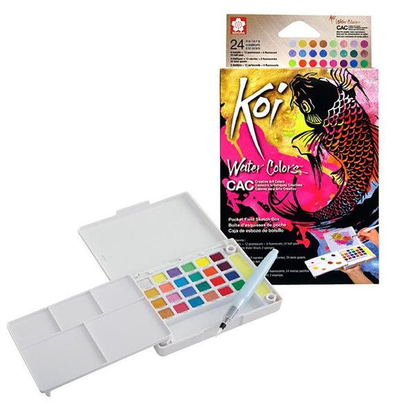 KOI CREATIVE ART WATERCOLOUR - 24 SET