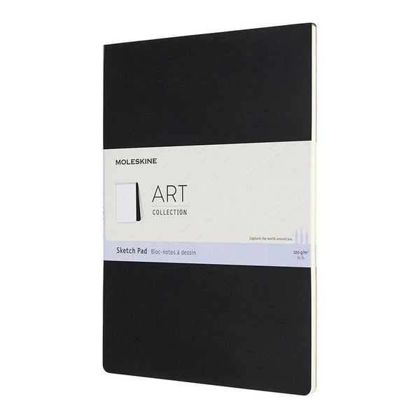 MOLESKINE - ART SKETCH PAD - BLACK (Pocket, Large, Square & A4)