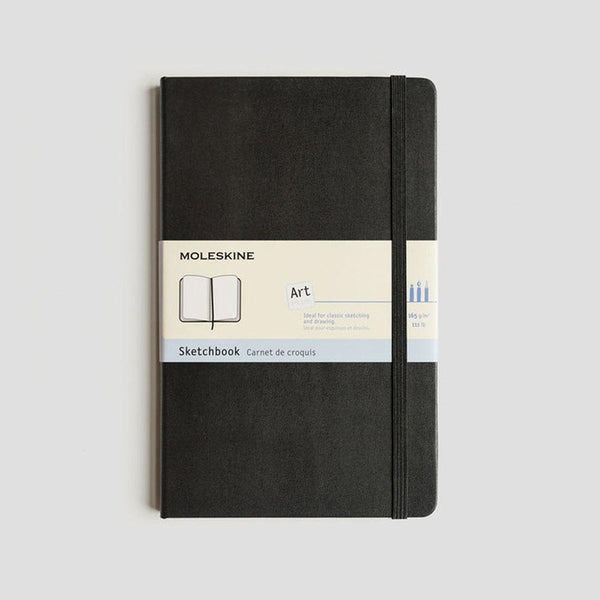 MOLESKINE SKETCHBOOK - ART COLLECTION - BLACK (Pocket, Large, A4 & A3)