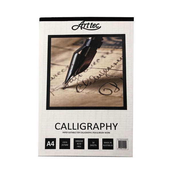 Arttec Calligraphy Pad - White A4
