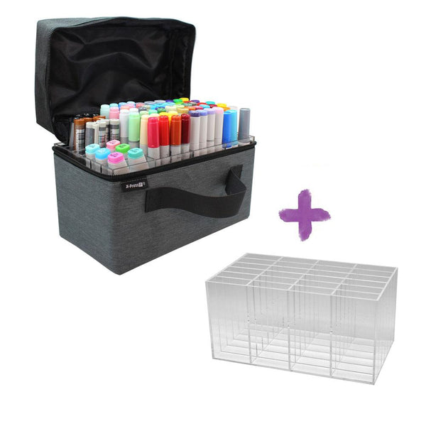 X-Press It Marker Storage Carry Case and Holder Bundle