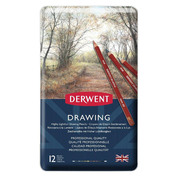 Derwent Drawing Pencils - 12 Set