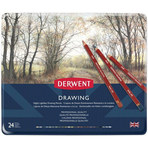 Derwent Drawing Pencils - 24 Set