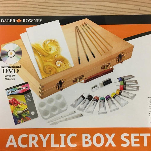 DALER ROWNEY SIMPLY ACRYLIC COLOUR WOODEN BOX SET
