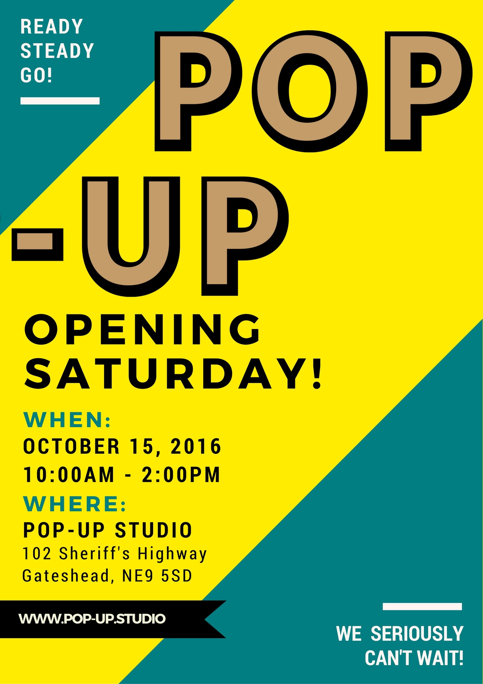 Pop-Up Opening Saturday