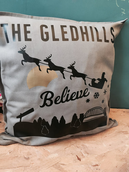 Personalised Christmas Believe Cushion