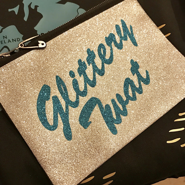 'Glittery Twat' Makeup Bag / Clutch