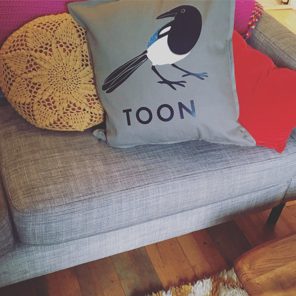 Toon Magpie Cushion
