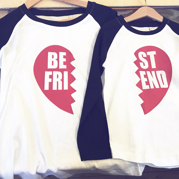 Best friend baseball tees. (A pair)