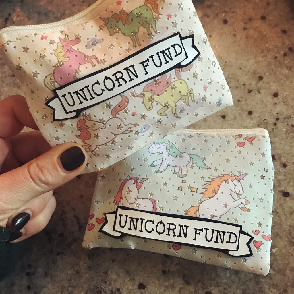 'UNICORN FUND' zip coin purse