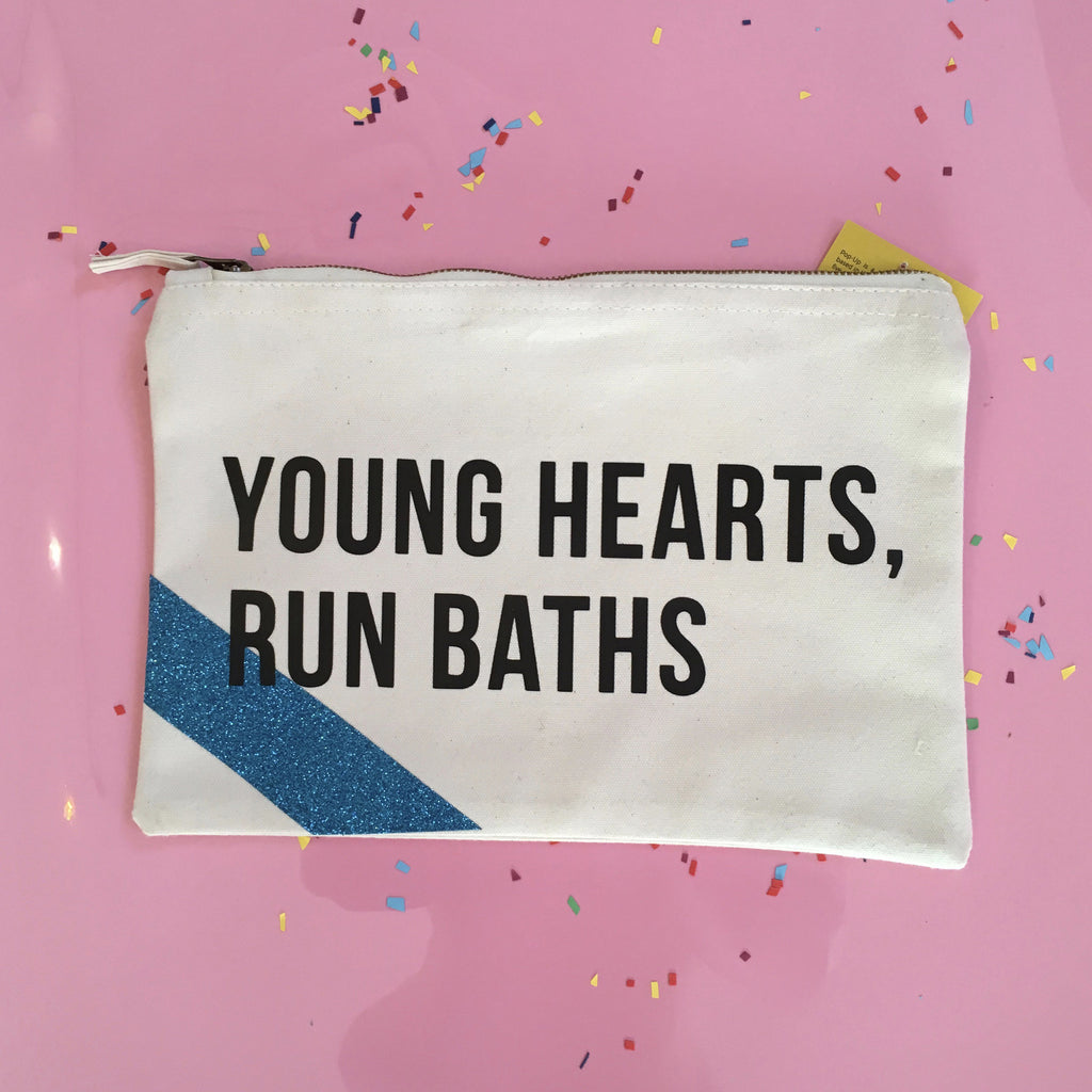 Young Hearts Run Baths Wash Bag