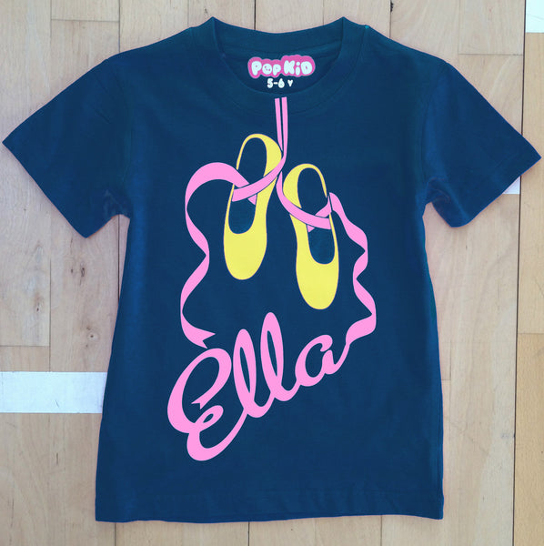 Personalised Ballet Shoes T-Shirt
