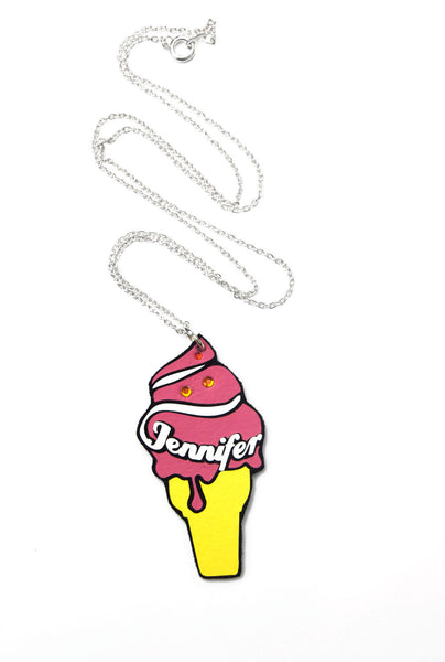 Personalised Ice Cream Name Necklace
