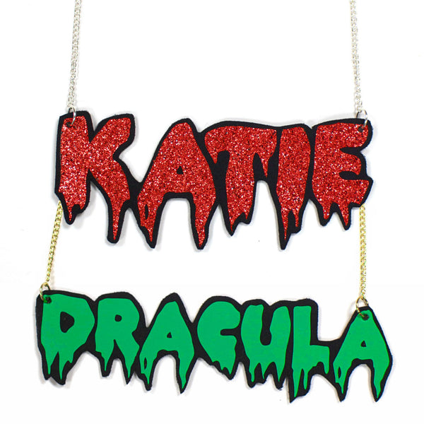 Personalised Psycho Name Necklace