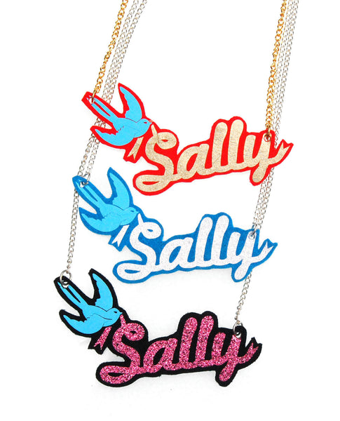 Personalised Swallow Name Necklace