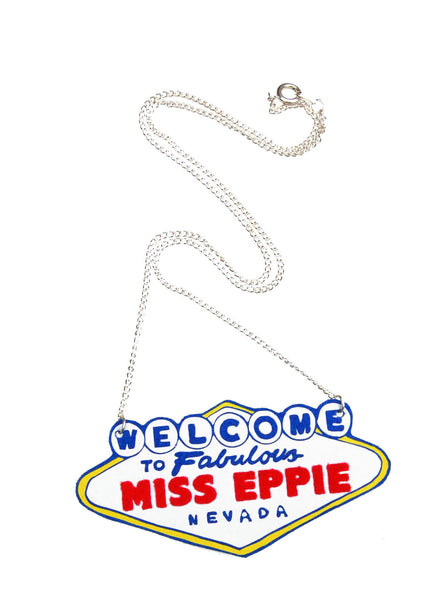 Personalised 'Welcome To Las Vegas' Necklace