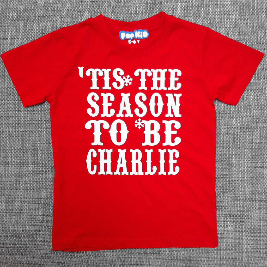 Personalised 'Tis The Season T-Shirt