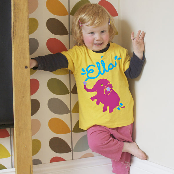Personalised Ella The Elephant T-Shirt