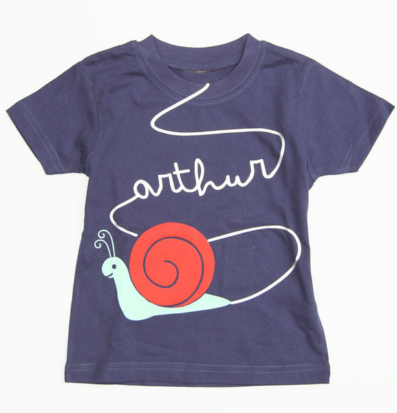 Personalised Children's Snail T-Shirt