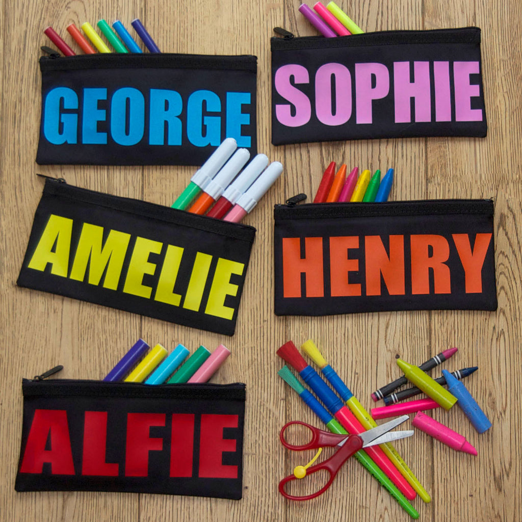 Personalised Bright And Bold Name Pencil Case