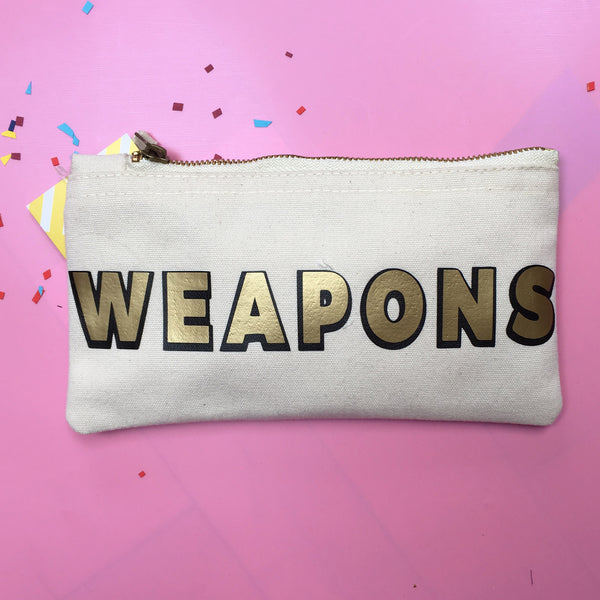 WEAPONS (of mass seduction) Makeup Bag