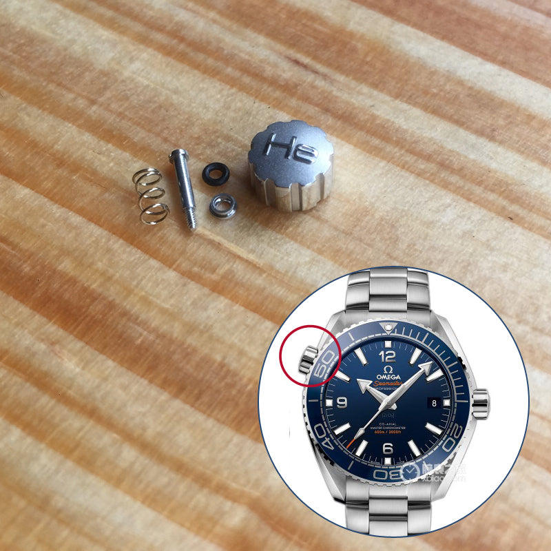 He pusher for Omega Seamaster Professional 600m 2000ft Planet Ocean watch(10  O Clock Crown) c2630283735a