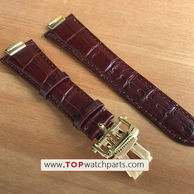 26mm Patek Philippe PP Nautilus watch leather Watchband/strap (with  conversion link kit+buckle )