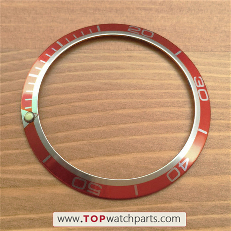 Luminous aluminum 41mm bezel inserts loop for Omega Seamaster Good Planet  GMT 45 5mm automatic watch