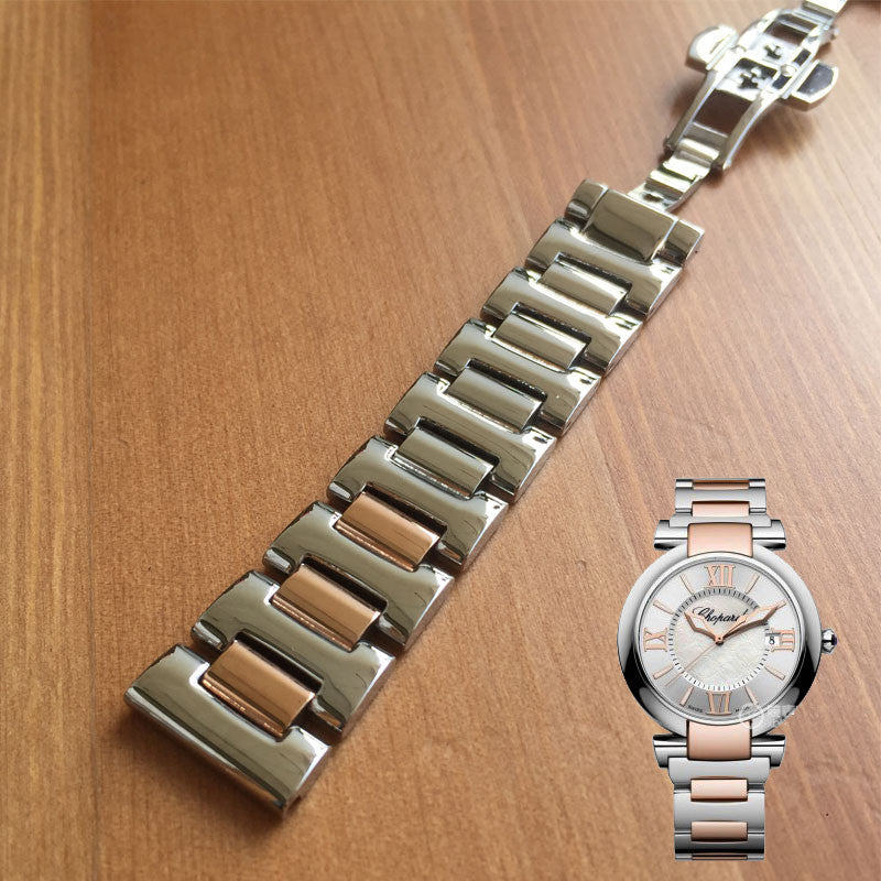 Types Of Watch Bands >> 18mm Steel Watch Band Strap Belt Bracelet For Chopard Imperiale