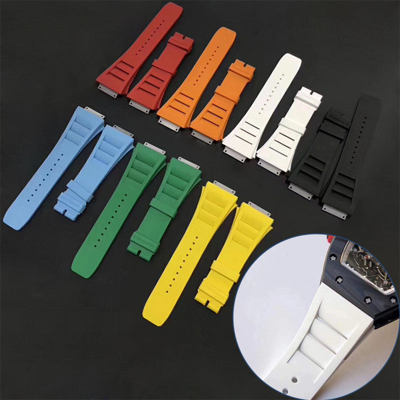 Rubber watch strap for Richard Mille man watch band(M size)