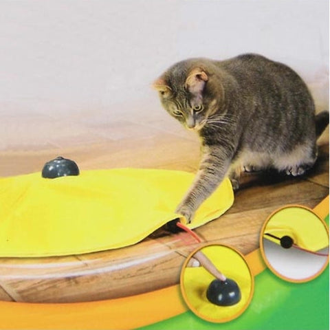 Electronic Undercover Moving Mouse  Cat Toy
