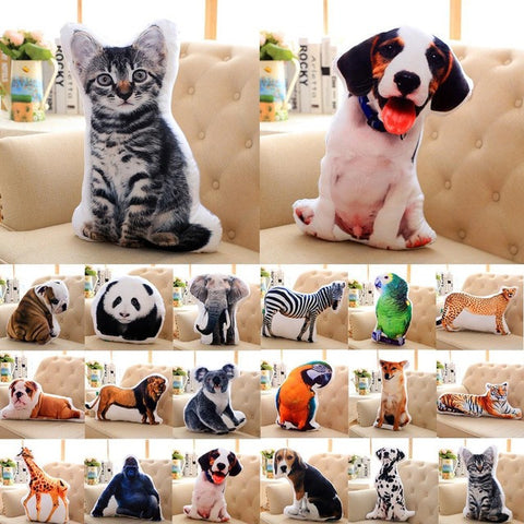 Creative 3D Cute Animal Pillow