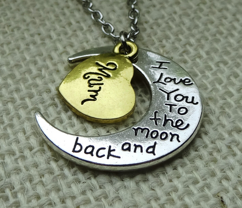 I Love You To The Moon And Back Necklaces