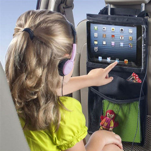 Back Seat Hanging iPad and Storage Holder