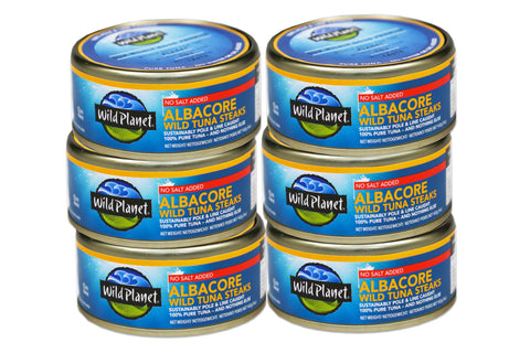 Albacore Wild Tuna Steaks No Salt Added 142g (6 Pack)