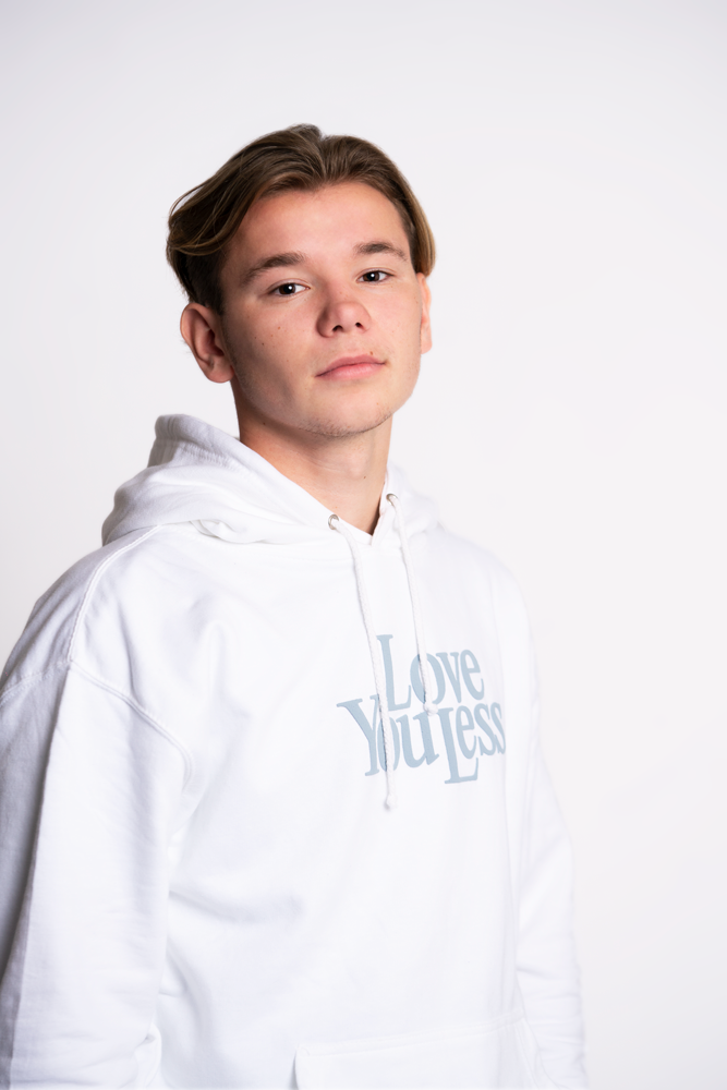 Love You Less Hoodie - White