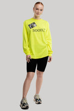 Load image into Gallery viewer, soon,** Long-Sleeved Neon Yellow Shirt