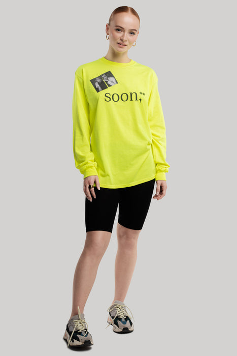 soon,** Long-Sleeved Neon Yellow Shirt