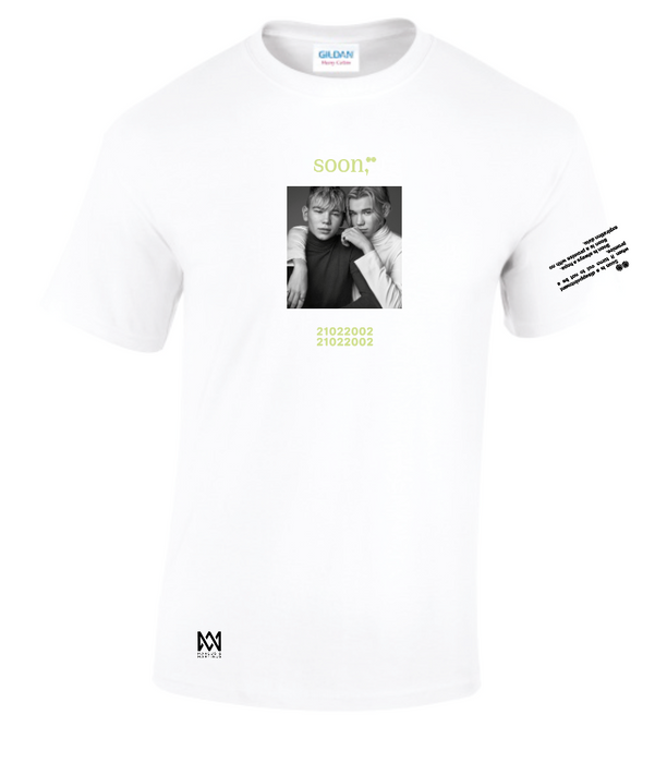 soon,** White T-Shirt 1