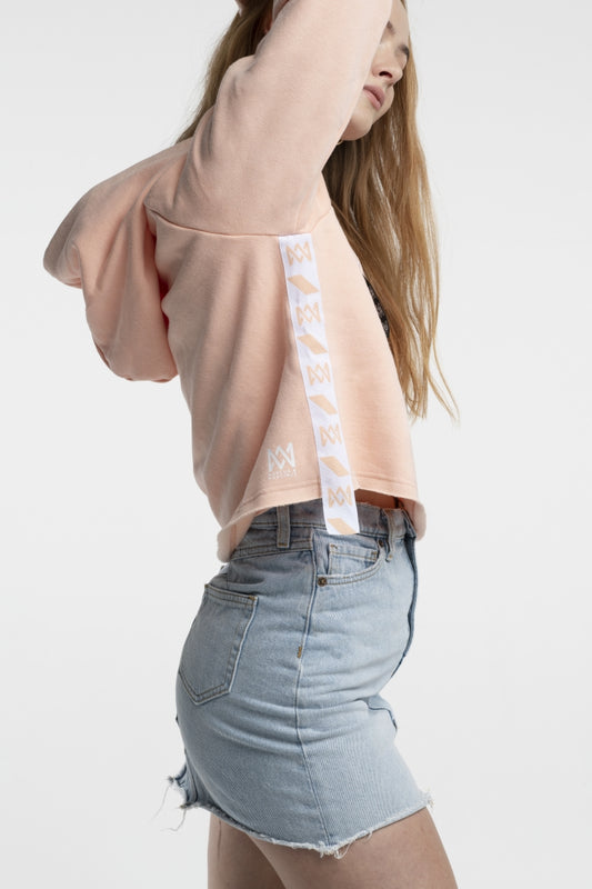 Summer Concert Collection Apricot Cropped-Hoodie