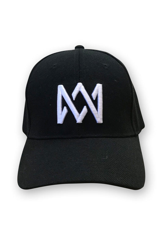 Cap - Snapback - Black With White Logo