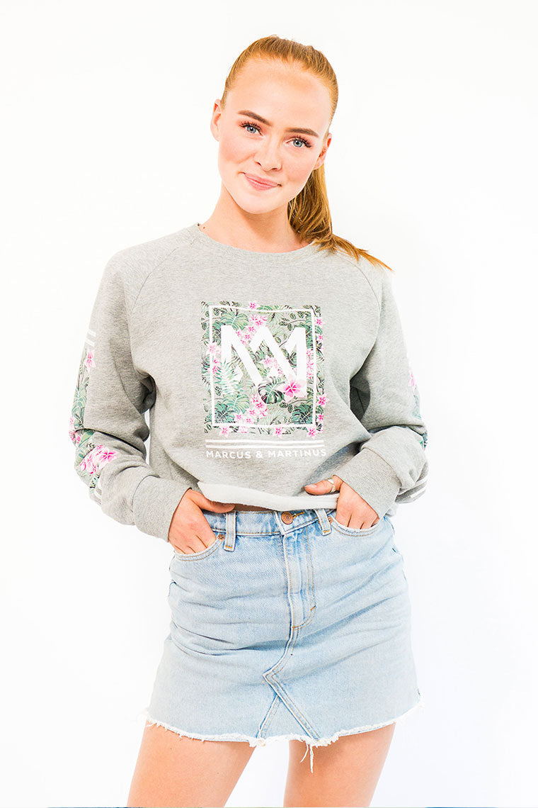 Crop Top Sweater | Grey