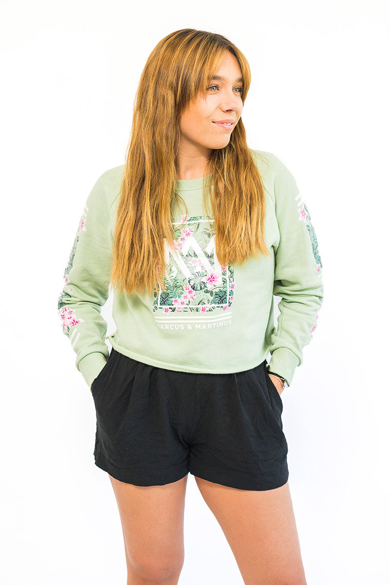 Crop Top Sweater | Green
