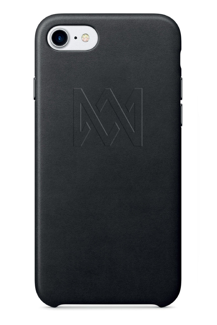Lux Black Leather iPhone Case