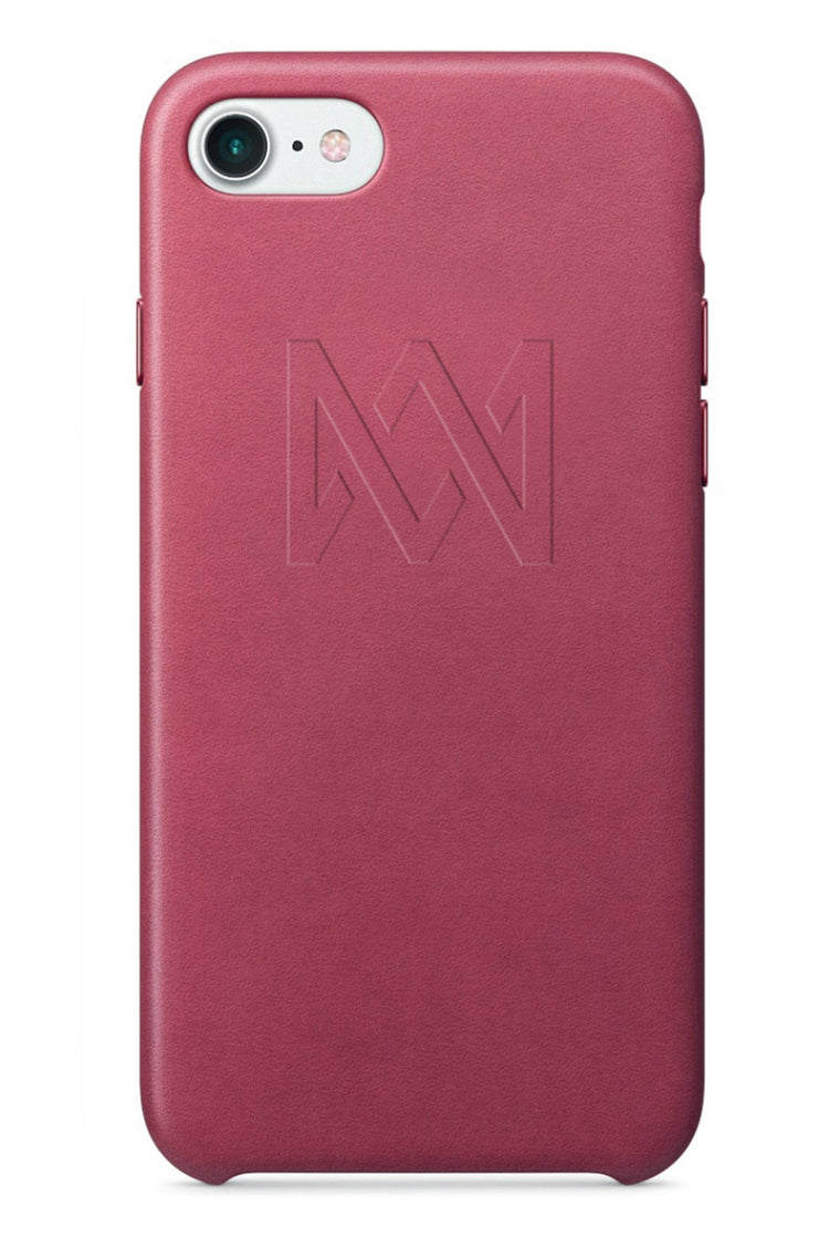 LUX Pink Leather iPhone Case