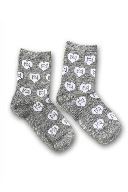 Socs - Heart Socks 2-PK - White & Gray