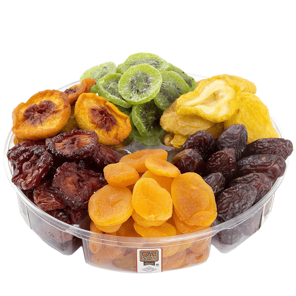 Healthy Tropical Dried Fruit Gift Tray 2 Pounds - 6 Section
