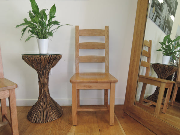 X1 VANCOUVER SELECT SOLID OAK CHAIR, CODE SAL011 HEIGHT 108CM VERY STURDY