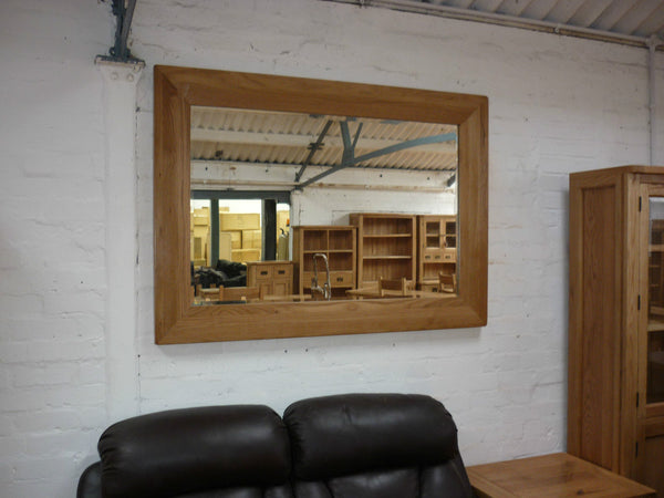 VANCOUVER PREMIUIM SOLID OAK LARGE RECTANGULAR MIRROR VXA003