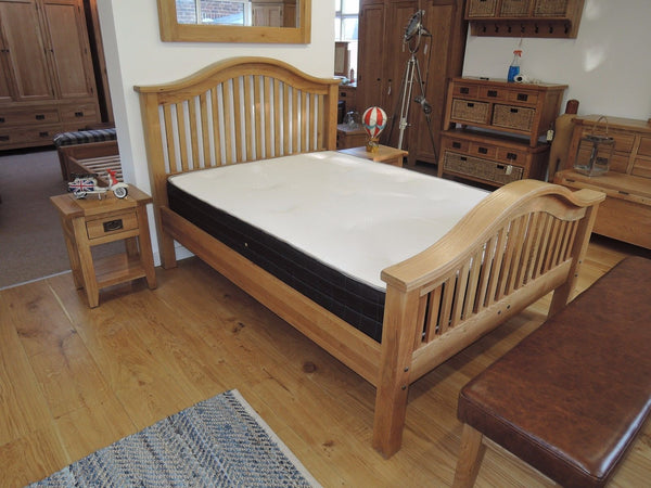 VANCOUVER PREMIUM SOLID OAK DOUBLE BED 139cm x 192cm VXB005